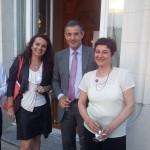 Expo WIEN, Autriche juin 2015 Florence Perissinotto avec Mr l'Ambassadeur et Mme Nicole Roux - BOCI