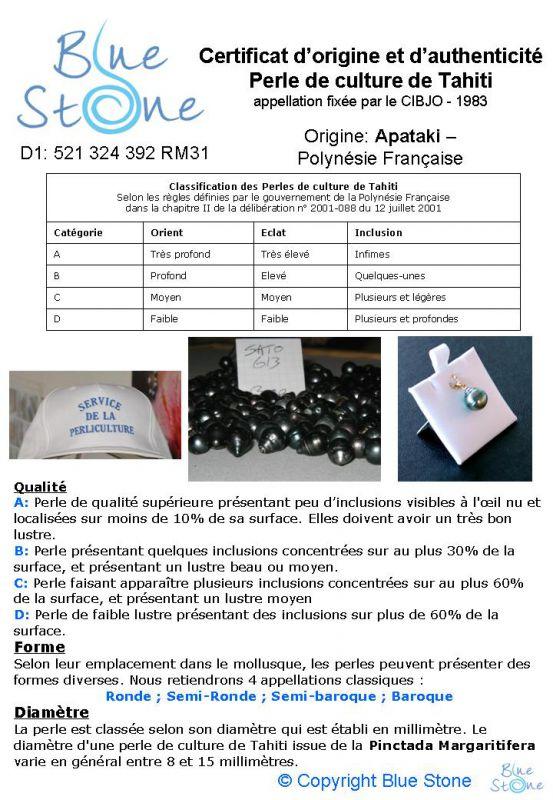 certificat blue stone