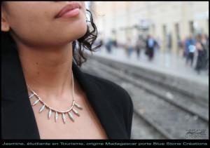femme du monde bijoux larimar blue stone
