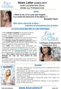 BLUE STONE PRONEWS RENTRÉE 2013