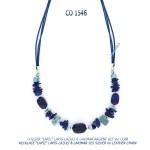 collier blue stone argent 925 silver larimar lapis-lazuli