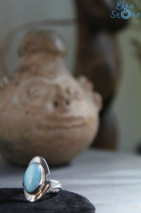 bague argent et larimar by Blue Stone