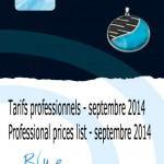 tarif professionnels septembre 2014 - professional price list septembre 2014