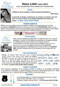 Le Bijou Bleu by Blue Stone professional News Letter