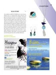 le guide du bijou fantaisie No16 spécial bijorhca paris septembre 2014 article et pub Blue Stone