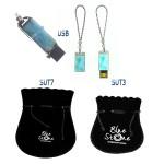 accessoire bijou Blue Stone clé USB Larimar. USB key Larimar