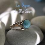 bague Blue Stone argent 925 Larimar. anillo de plata 925 y Larimar. 925 silver ring with Larimar stone