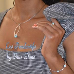 bijoux pendentifs Blue Stone argent larimar 925 silver pendants Larimar joyería de plata y Larimar