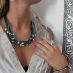 le bijou bleu by Blue Stone collection classic perle et larimar collier bo bracelet bague necklace ring earring