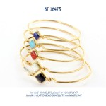 bracelet plaqué or plated gold blue stone