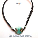 larimar necklace collier blue stone argent 925 silver