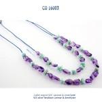 collier necklace argent 925 silver amethyste larimar dolce vita