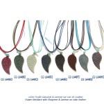 collier necklace galuchat shagreen bluestone