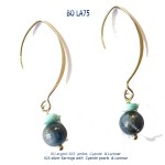 boucles oreilles earrings cyanite larimar bijou blue stone classico