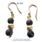bijou jewel larimar bo earrings blue stone argent 925 silver agate agata classico