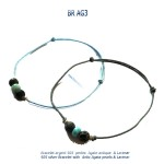 larimar bracelet blue stone argent 925 silver agate agata classico