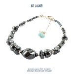 bracelet blue stone larimar hematite