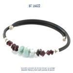 bracelet memory form memoire de forme larimar blue stone bijou