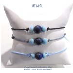 bracelet classico blue stone larimar lapis-lazuli