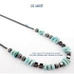 collier necklace blue stone larimar hematite